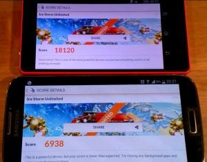 Sony Xperia Z3 Compact vs Samsung Galaxy S4 TEST 3DMark Benchmark