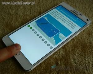 Samsung GALAXY Note 4 - czytnik linii papilarnych