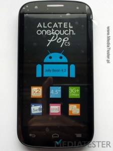 alcatel onetouch pop c5 przód