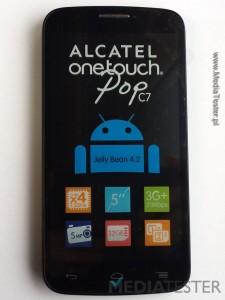 alcatel onetouch pop c7 przód