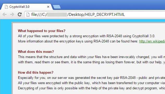 Jak usunąć wirus CryptoWall 3.0