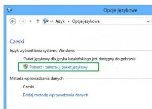 Jak zmienić język w Windows 8