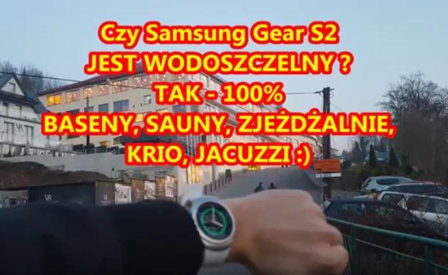 Test Wodoszczelności Samsung Gear S2