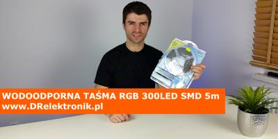 WODOODPORNA TAŚMA RGB 300LED SMD 5m www.DRelektronik.pl Bytom