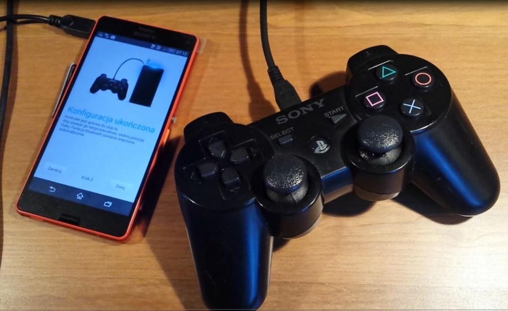 Sony XPERIA vs. Sony wireless controller DualShock PS3 = OK