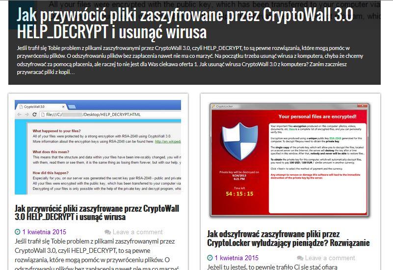 Jak odzyskać przywrócić pliki zaszyfrowane przez CryptoLocker lub CryptoWall 3 0 ROZWIĄZANIE