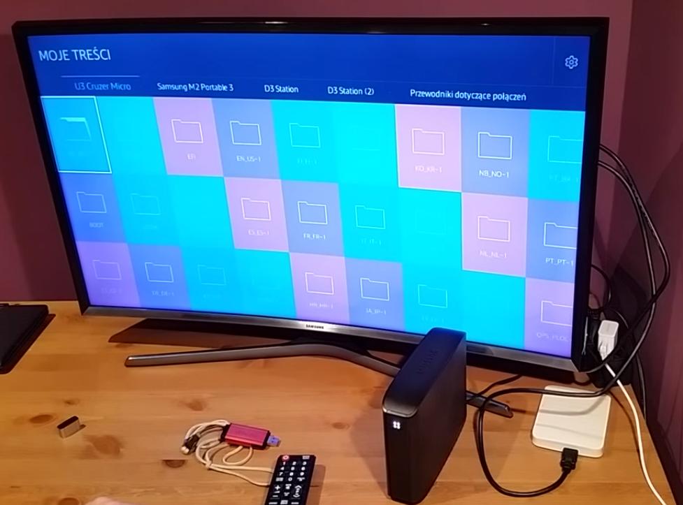 TEST obsługi dysków USB w Samsung SMART TV J6300